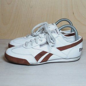 Reebok 704 White / Brown Leather / Suede Women's 7